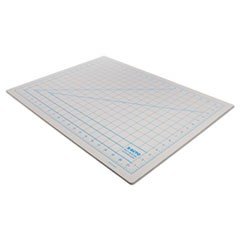 "Self-Healing Cutting Mat, Nonslip Bottom, 1"" Grid, 18 x 24, Gray"