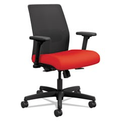 Ignition 2.0 Ilira-Stretch Low-Back Mesh Task Chair, Ruby Fabric Upholstery