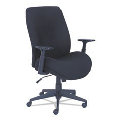 Baldwyn Series Mid Back Task Chair, Supports up to 275 lbs., Black Seat/Black Back, Black Base