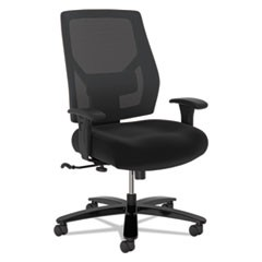 Crio Big and Tall Mid-Back Task Chair, Supports up to 450 lbs., Black Seat/Black Back, Black Base