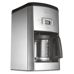 DC514T 14-Cup Drip Coffee Maker, Stainless Steel, Black/Silver