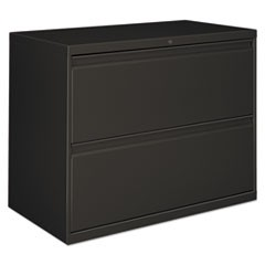 Two-Drawer Lateral File Cabinet, 30w x 18d x 28 3/8h, Charcoal