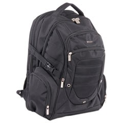 "Ryan Computer BackPack, 19"" x 4"" x 12"", Nylon, Black"