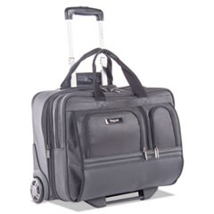 "Harry Business Case on Wheels, 8.25"" x 8.25"" x 13.5"", Polyester, Black"