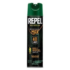 Repel Insect Repellent Sportsmen Max Formula, 6.5 oz Aerosol, Unscented, 12/CT