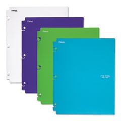 Snap-In Plastic Folder, 20 Sheets, 8 1/2 x 11, Assorted, Snap Closure, 2/Set