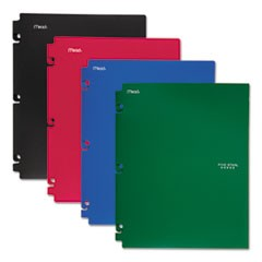 Snap-In Plastic Folder, 20 Sheets, 8 1/2 x 11, Assorted, Snap Closure, 4/Set