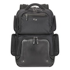 "Lexington BackPack, 16.54"" x 4.33"" x 18.5"", Polyester, Black"