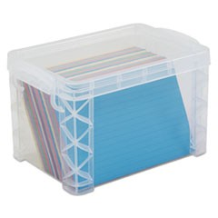 Advantussuper Stacker Storage Boxes, Hold 500 4 X 6 Cards, Plastic, Clear