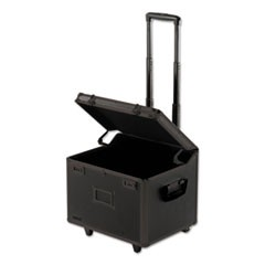 Locking Mobile File Chest, Letter/Legal, 17.5 x 15.5 x 14.5, Tactical Black