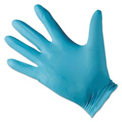 G10 Blue Nitrile Gloves, Blue, 242 mm Length, Medium/Size 8, 10/Carton