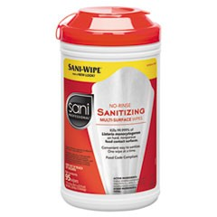 Sanitizing Wipes, No Rinse, Multi Surface-95 Wipes