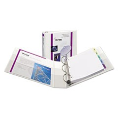 Heavy-Duty View Binder with DuraHinge and Locking One Touch EZD Rings, 3 Rings, 1.5