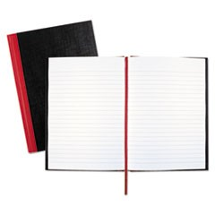 Casebound Notebooks, Wide/Legal Rule, Black Cover, 8.25 x 5.68, 96 Sheets