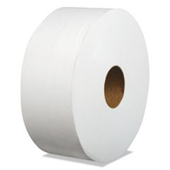 "Laminated Jumbo Roll Toilet Tissue, Septic Safe, 2-Ply, White, 3.2"" x 700 ft, 12/Carton"