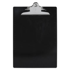 "Recycled Plastic Clipboards, 1"" Capacity, Holds 8 1/2w x 12h, Black"