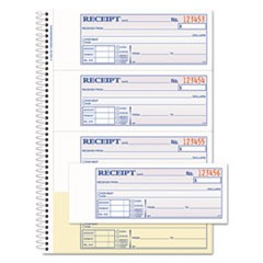 Adams Tops Money/Rent Receipt Book, 7 1/8 X 2 3/4, 2-Part Carbonless, 200 Sets/Book