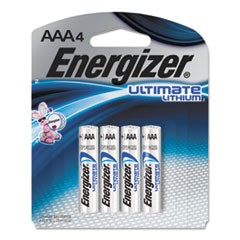 Ultimate Lithium Batteries, AAA, 4/Pack