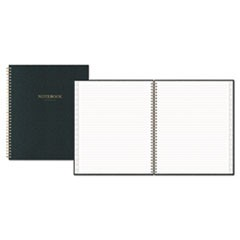Notebook, 1 Subject, Medium/College Rule, Charcoal Black Cover, 10 x 8, 80 Sheets