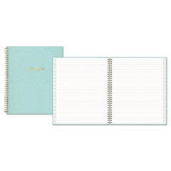 Notebook, 1 Subject, Medium/College Rule, Aqua Cover, 10 x 8, 80 Sheets