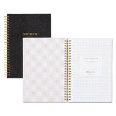 Notebook, 1 Subject, Narrow Rule, Black Cover, 8.5 x 5.75, 80 Pages