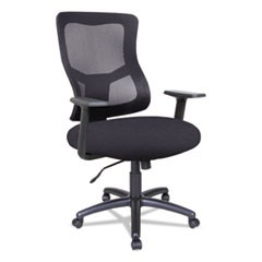 Alera Elusion II Series Mesh Mid-Back Swivel/Tilt Chair, Supports up to 275 lbs., Black Seat/Black Back, Black Base