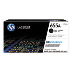 HP 655A, (CF450A) Black Original LaserJet Toner Cartridge
