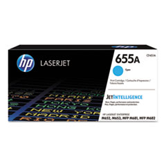 HP 655A, (CF451A) Cyan Original LaserJet Toner Cartridge