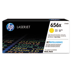 HP 656X, (CF462X) High Yield Yellow Original LaserJet Toner Cartridge