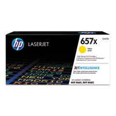 HP 657X, (CF472X) High Yield Yellow Original LaserJet Toner Cartridge