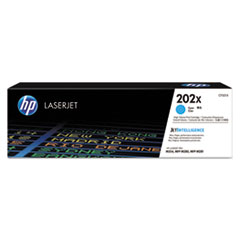HP 202X, (CF501X) High Yield Cyan Original LaserJet Toner Cartridge