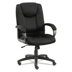 Alera Logan Series Mesh High-Back Swivel/Tilt Chair, Supports up to 275 lbs., Black Seat/Black Back, Black Base