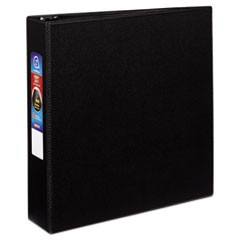 "Heavy-Duty Non-View Binder with DuraHinge and Locking One Touch EZD Rings, 3 Rings, 2"" Capacity, 11 x 8.5, Black"