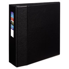 "Heavy-Duty Non-View Binder with DuraHinge and Locking One Touch EZD Rings, 3 Rings, 4"" Capacity, 11 x 8.5, Black"
