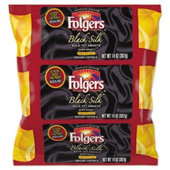 Coffee Filter Packs, Black Silk, 14 oz Pack, 4/Carton
