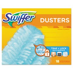 "Refill Dusters, Dust Lock Fiber, 2"" x 6"", Light Blue, 18/Box, 4 Boxes/Carton"
