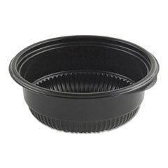 "MicroRaves Incredi-Bowl Base, 8 oz, 4.75"" dia x 1.75""h, Black, 500/Carton"