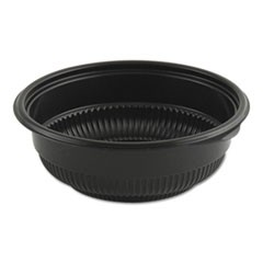 MicroRaves Incredi-Bowl Base, 12 oz, Black, 250/Carton