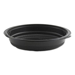 "MicroRaves Incredi-Bowl Base, 24 oz, 8.5"" dia x 1.51""h, Black, 150/Carton"