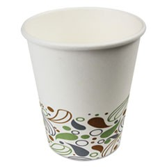 Deerfield Printed Paper Hot Cups, 8 oz, 1000/Carton