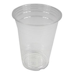 Clear Plastic Cold Cups, 16 oz, PET, 20 Cups/Sleeve, 50 Sleeves/Carton