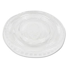 Soufflé/Portion Cup Lids, Fits 1 oz Portion Cups, Clear, 2500/Carton