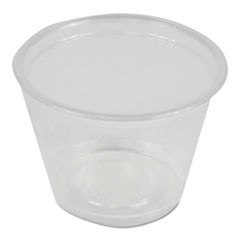Souffl�/Portion Cups, 1 oz, Polypropylene, Clear, 20 Cups/Sleeve, 125 Sleeves/Carton