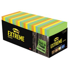 Post-It  Extreme Noteswater-Resistant Self-Stick Notes, Multi-Colored, 3  X 3 , 45 Sheets, 32/Pack