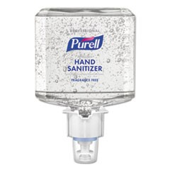 Professional Advanced Hand Sanitizer Fragrance Free Gel, For ES8 Dispenser, 2/CT