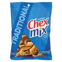 Chex Mix, Traditional Flavor Trail Mix, 3.75 oz Bag, 8/Box