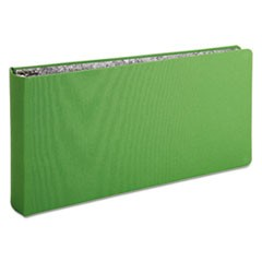 "Green Canvas Legal Ring Binder, 2"" Cap, 14 x 8 1/2, Green"