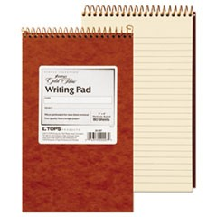 Gold Fibre Retro Wirebound Writing Pads, 1 Subject, Medium/College Rule, Red Cover, 5 x 8, 80 Sheets