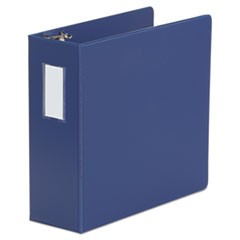 "D-Ring Binder, 4"" Capacity, 8 1/2 x 11, Royal Blue"