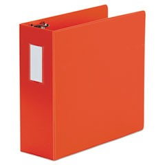 "D-Ring Binder, 4"" Capacity, 8 1/2 x 11, Red"